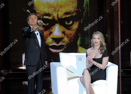 "Stock Picture of Piero Chiambretti and Loredana ""Jolie"" Ferriolo"