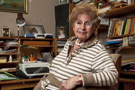 Editorial photo of Zdenka Fantlova, Holocaust survivor and author of 'The Tin Ring', Weybridge, Britain - 21 Jan 2010