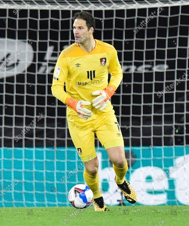 Stock Picture of Asmir Begovic (1) of AFC Bournemouth during the EFL Sky Bet Championship match between Bournemouth and Nottingham Forest at the Vitality Stadium, Bournemouth