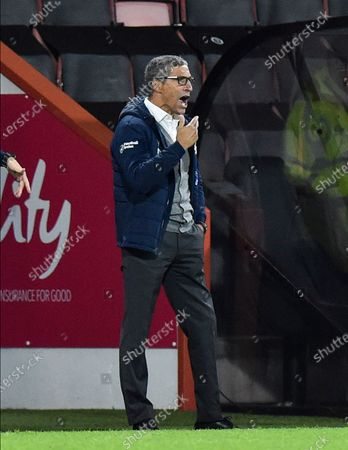 Stock Photo of Nottingham Forest manager Chris Hughton during the EFL Sky Bet Championship match between Bournemouth and Nottingham Forest at the Vitality Stadium, Bournemouth