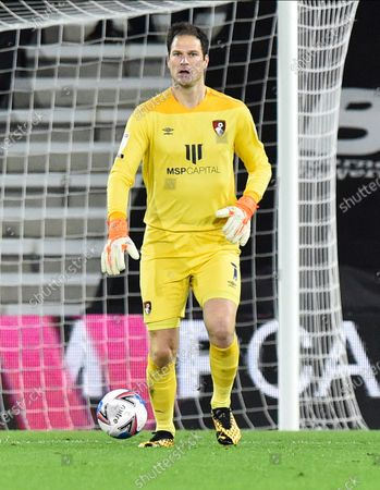 Stock Image of Asmir Begovic (1) of AFC Bournemouth during the EFL Sky Bet Championship match between Bournemouth and Nottingham Forest at the Vitality Stadium, Bournemouth