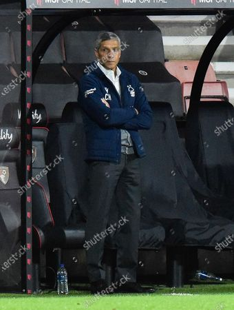 Nottingham Forest manager Chris Hughton during the EFL Sky Bet Championship match between Bournemouth and Nottingham Forest at the Vitality Stadium, Bournemouth