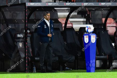 Nottingham Forset manager Chris Hughton before kickoff during the EFL Sky Bet Championship match between Bournemouth and Nottingham Forest at the Vitality Stadium, Bournemouth