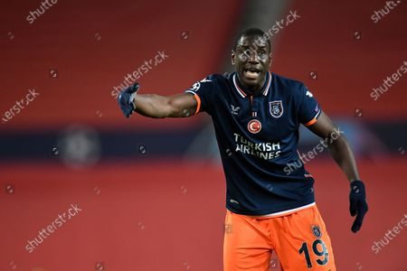Demba Ba of Istanbul Basaksehir during the UEFA Champions League group H soccer match between Manchester United and Istanbul Basaksehir in Manchester, Britain, 24 November 2020.