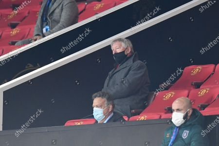 Sir Alex Ferguson during the UEFA Champions League group H soccer match between Manchester United and Istanbul Basaksehir in Manchester, Britain, 24 November 2020.