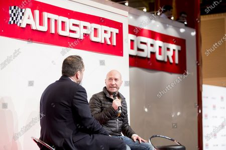 Autosport International Exhibition.  National Exhibition Centre, Birmingham, UK. Saturday 16 January 2016.  Perry McCarthy on the Autosport stage. World Copyright: Zak Mauger/LAT Photographic.