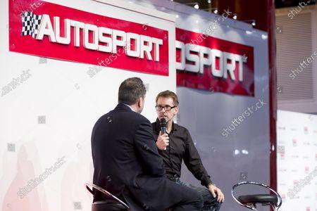 Autosport International Exhibition.  National Exhibition Centre, Birmingham, UK. Friday 15 January 2016.  Kenny Brack on the Autosport stage World Copyright: Zak Mauger/LAT Photographic.