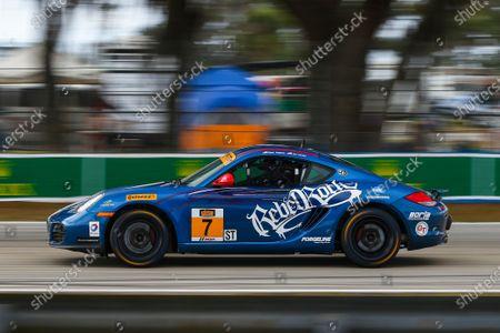 16-18 March, 2016, Sebring, Florida, USA 7, Porsche, Cayman GT4, ST, Sam Adams, Ian James ?2016, Jake Galstad LAT Photo USA