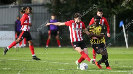 Joe Adams of Brentford in action during Watford Under-23 vs Brentford B, Friendly Match Football at Clarence Park on 24th November 2020