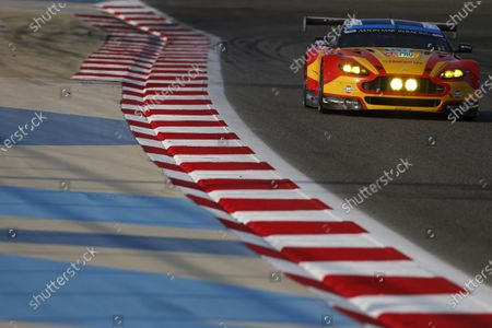 2015 FIA World Endurance Championship Bahrain 6-Hours Bahrain International Circuit, Bahrain Saturday 21 November 2015. Alex MacDowall, Fernando Rees, Richie Stanaway (#99 GTE PRO Aston Martin Racing Aston Martin Vantage V8). World Copyright: Alastair Staley/LAT Photographic