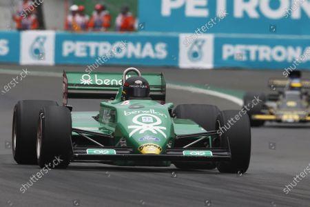 Masters Historic Racing. Autodromo Hermanos Rodriguez, Mexico City, Mexico. Saturday 31 October 2015. James hagan, Tyrrell 011. World Copyright: Charles Coates/LAT Photographic