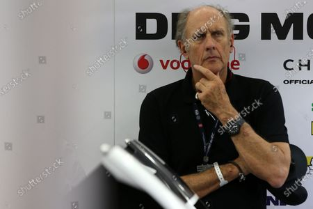 2015 FIA World Endurance Championship, Bahrain International Circuit, Bahrain. 19th - 21st November 2015. Hans Joachim Stuck (GER) in the Porsche garage. World Copyright: Jakob Ebrey / LAT Photographic.
