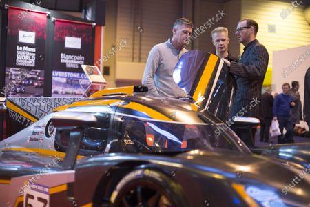 Autosport International Exhibition.  National Exhibition Centre, Birmingham, UK. Friday 15 January 2016.  Ginetta chief Lawrence Tomlinson at the Ginetta stand. World Copyright: Sam Bloxham/LAT Photographic.