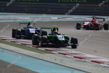 2015 GP3 Series Round 9 Yas Marina Circuit, Abu Dhabi, UAE. Sunday 29 November 2015. Alex Fontana (SUI, Status Grand Prix) leads Matheo Tuscher (SUI, Jenzer Motorsport)  Photo: Sam Bloxham/GP3 Series Media Service.