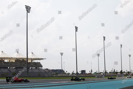 2015 GP3 Series Round 9. Yas Marina Circuit, Abu Dhabi, United Arab Emirates. Sunday 29 November 2015. Alex Fontana (SUI, Status Grand Prix) leads Kevin Ceccon (ITA, Arden International). Photo: Zak Mauger/GP3 Series Media Service.