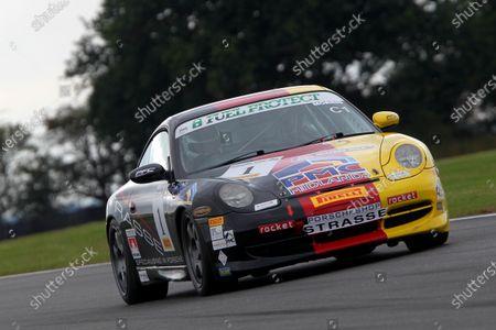 Stock Image of 2015 Porsche Club Championship,  Snetterton, Norfolk. 22nd - 23rd August 2015. Peter Morris Porsche 996 C2.  World Copyright: Ebrey / LAT Photographic.