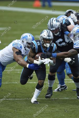 Carolina Panthers running back Rodney Smith (35) during an NFL football game against the Detroit Lions, in Charlotte, N.C