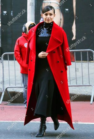 Stock Image of Sofia Carson pre-tapes ahead of Macy's Thanksgiving Day Parade 2020 at Herald Square