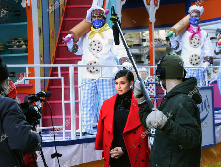 Sofia Carson pre-tapes ahead of Macy's Thanksgiving Day Parade 2020 at Herald Square