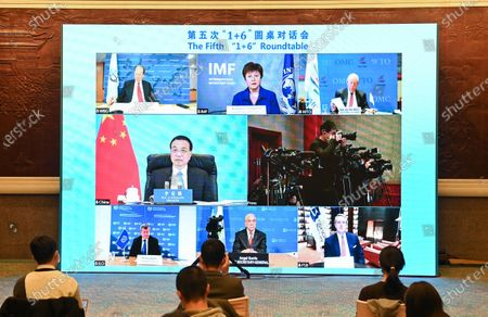 "Editorial photo of China Beijing Li Keqiang ""1+6"" Roundtable - 25 Nov 2020"