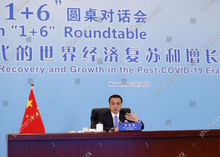 "Editorial picture of China Beijing Li Keqiang ""1+6"" Roundtable - 25 Nov 2020"