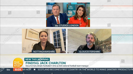 Stock Photo of Piers Morgan, Susanna Reid, Emma Wilkinson and Andy Townsend