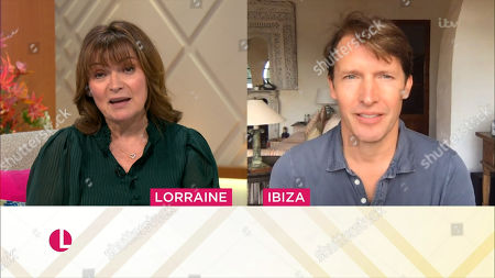 Lorraine Kelly and James Blunt