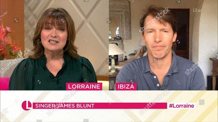 Stock Image of Lorraine Kelly and James Blunt