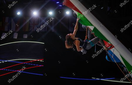 Editorial photo of IFSC Climbing European Continental Championships, Moscow, Russian Federation - 25 Nov 2020