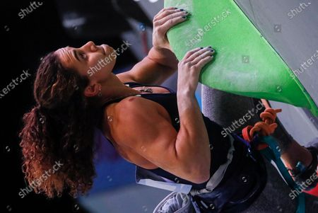 Stock Picture of Third placed Molly Thompson-Smith of Great Britain competes during the women Lead final at the IFSC Climbing European Continental Championships in Moscow, Russia, 25 November 2020.