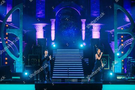 Gary Barlow and Alesha Dixon.