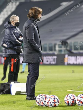 Stock Picture of Andrea Pirlo Head coach of Juventus during the match