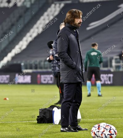 Stock Image of Andrea Pirlo Head coach of Juventus during the match