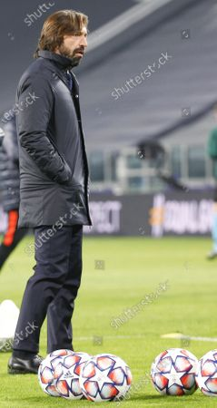 Stock Photo of Andrea Pirlo Head coach of Juventus during the match