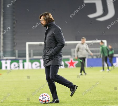 Andrea Pirlo Head coach of Juventus during the match