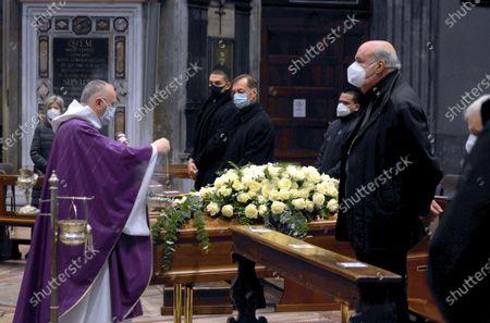 Funeral of Beppe Modenese in the Church of Santa Maria della Passione in via Consevatorio