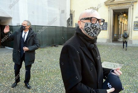 Editorial image of Funeral of Beppe Modenese, Church of Santa Maria della Passione in via Consevatorio, Milan, Italy - 25 Nov 2020