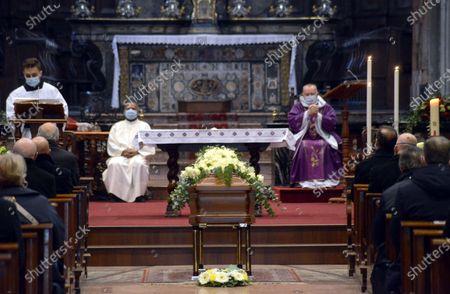 Editorial picture of Funeral of Beppe Modenese, Church of Santa Maria della Passione in via Consevatorio, Milan, Italy - 25 Nov 2020
