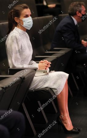 Queen Letizia of Spain attends the opening of the Tourism Innovation Summit 2020 (TIS) held at the Exhibition and Congress Palace in Seville, Spain, 25 November 2020. The TIS is an international forum tat gathers Tourism industry to define strategies and give a coordinate response for the sector's recovery in 2021. According to the Spanish Royal Household, King Felipe VI was not able to attend the opening as he has to keep a ten day quarantine after being in contact with a coronavirus positive some days ago.