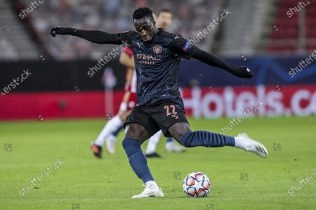 Manchester City's Benjamin Mendy in action