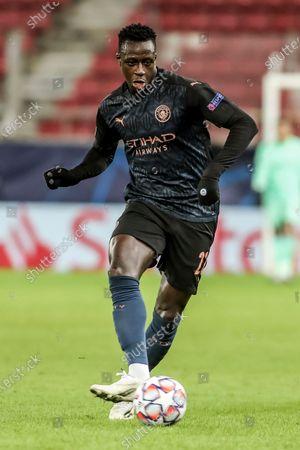 Manchester's Benjamin Mendy in action