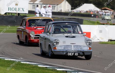 2015 Goodwood Revival Meeting Goodwood Estate, West Sussex, England 11th - 13th September 2015 St Mary's Trophy Part 1 Tony Jardine Anglia World Copyright : Jeff Bloxham/LAT Photographic Ref : Digital Image DSC_6454