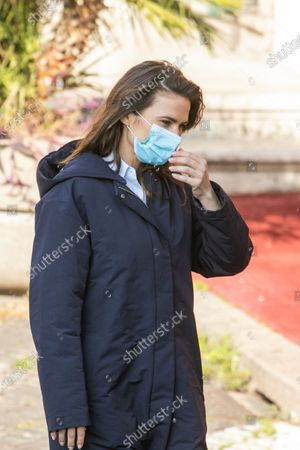 Haley Atwell on set filming Mission Impossible 7 Libra in the streets of Rome