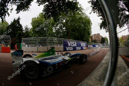 2014/2015 FIA Formula E Championship. London ePrix, Battersea Park, London, United Kingdom. Jarno Trulli (ITA)/Trulli Racing - Spark-Renault SRT_01E Sunday 28 June 2015 Photo: Zak Mauger/LAT/Formula E