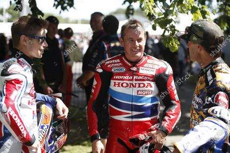 2015 Goodwood Festival of Speed Goodwood Estate, West Sussex, England. 25th - 28th June 2015. Casey Stoner with John McGuinness and Ken Block. World Copyright: Alastair Staley/LAT Photographic
