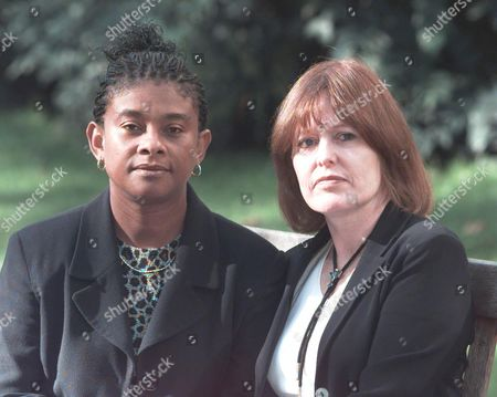 Mrs Frances Lawrence Wife Of Murdered Head Teacher Phillip (left) And Mrs Doreen Lawrence Mother Of Murdered Teenager Stephen Meeting For The First Time At The Woman Of The Year Lunch Savoy Hotel London.