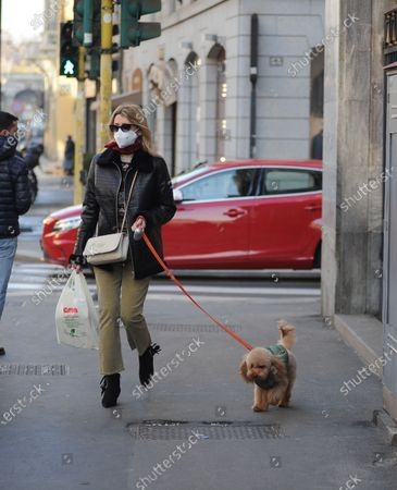 Editorial photo of Elena Barolo out and about, Milan, Italy - 25 Nov 2020