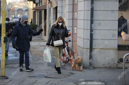 Editorial picture of Elena Barolo out and about, Milan, Italy - 25 Nov 2020