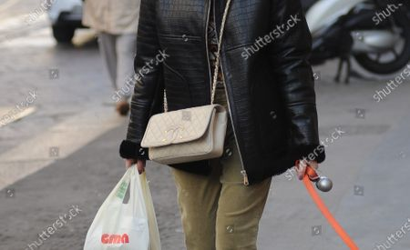 Editorial image of Elena Barolo out and about, Milan, Italy - 25 Nov 2020