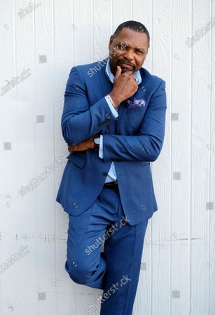 """Stock Picture of Petri Hawkins-Byrd, bailiff on the reality court television program """"Judge Judy,"""" poses for portrait, in Los Angeles"""